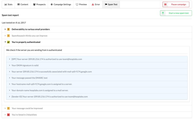Email Deliverability smartreach.io